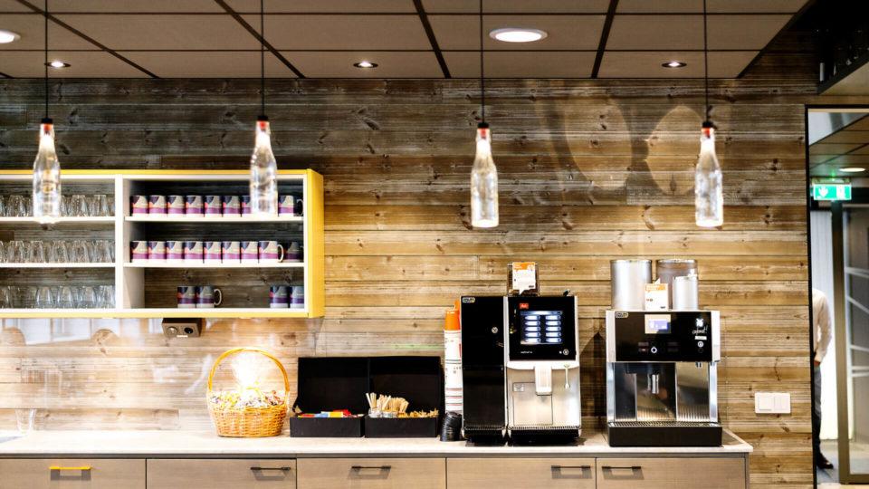 Kaffestation på kontoret