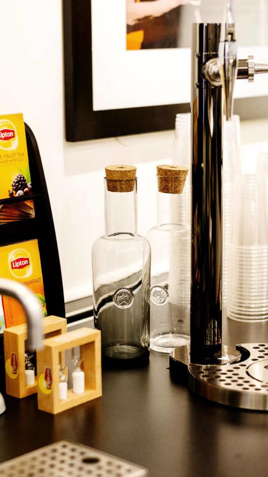 Te och vattenautomater på kontoret